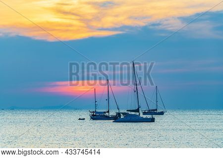 The Most Beautiful Colorful Sunset Koh Phayam Beach Ranong Thailand.