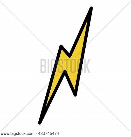 Instant Lightning Icon. Outline Instant Lightning Vector Icon Color Flat Isolated