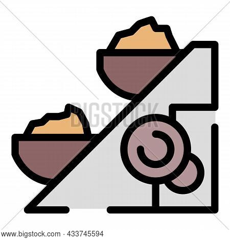 Coal Extract Line Icon. Outline Coal Extract Line Vector Icon Color Flat Isolated