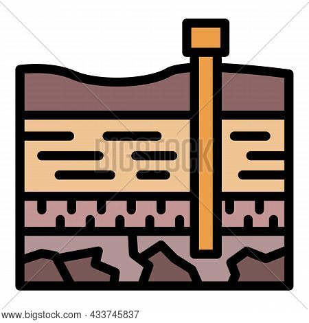 Coal Industry Icon. Outline Coal Industry Vector Icon Color Flat Isolated