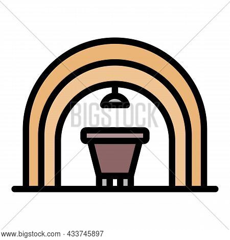 Coal Extract Tunnel Icon. Outline Coal Extract Tunnel Vector Icon Color Flat Isolated
