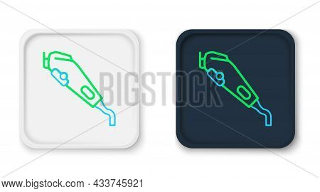 Line Electrical Hair Clipper Or Shaver Icon Isolated On White Background. Barbershop Symbol. Colorfu