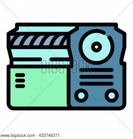 Energy Power Supply Icon. Outline Energy Power Supply Vector Icon Color Flat Isolated