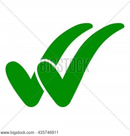 Double Check Icon, Two Green Checkmarks, Double Check Guarantee