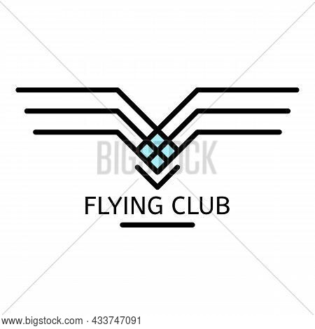 Flying Club Logo. Outline Flying Club Vector Logo Color Flat Isolated