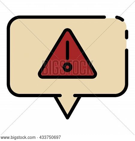 Firewall Chat Protect Icon. Outline Firewall Chat Protect Vector Icon Color Flat Isolated