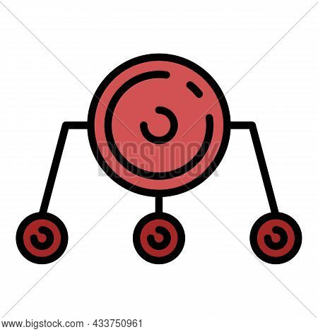 Firewall Network Icon. Outline Firewall Network Vector Icon Color Flat Isolated