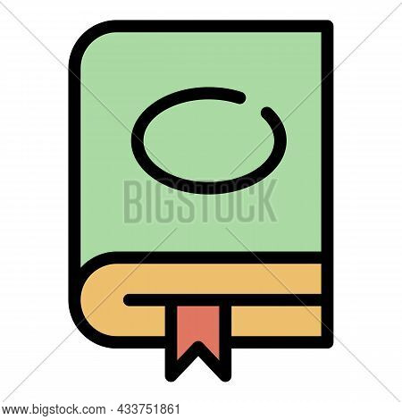 Education Book Icon. Outline Education Book Vector Icon Color Flat Isolated
