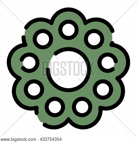 Assembly Wheel Icon. Outline Assembly Wheel Vector Icon Color Flat Isolated