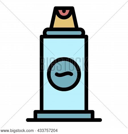 Woman Deodorant Icon. Outline Woman Deodorant Vector Icon Color Flat Isolated