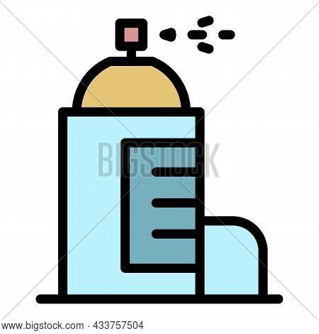 Metal Deodorant Icon. Outline Metal Deodorant Vector Icon Color Flat Isolated