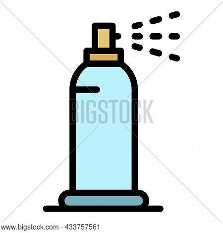 Plastic Deodorant Icon. Outline Plastic Deodorant Vector Icon Color Flat Isolated