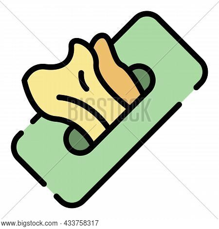 Hygiene Wipes Icon. Outline Hygiene Wipes Vector Icon Color Flat Isolated