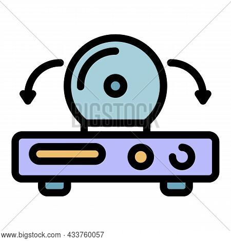 Video Console Icon. Outline Video Console Vector Icon Color Flat Isolated