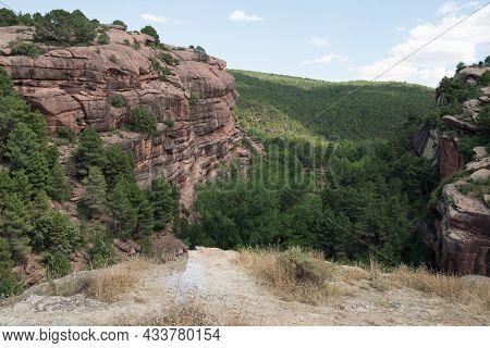 Trekking Area With A Beautiful Forest Near Albarracin, Teruel, Aragon, Spain. Europe