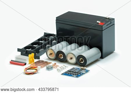 12 Volt, Lithium Iron Phosphate Battery Or Lifepo4 Rechargeable Diy Kit For Ev, Ebikes, Outdoor Sola