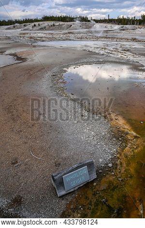 Yellowstone Np, Wy, Usa - Aug 12, 2020: The Whirligig Geyser