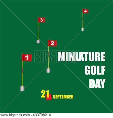 The Calendar Event Is Celebrated In September - Miniature Golf Day