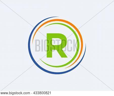 R Letter Logo Design. Modern, Unique Creative R Logo Design. Initial R Letter Business Logo Template