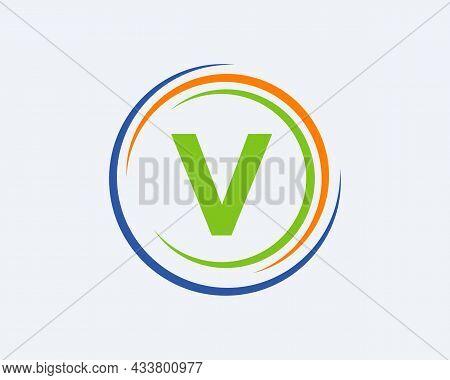 V Letter Logo Design. Modern, Unique Creative V Logo Design. Initial V Letter Business Logo Template