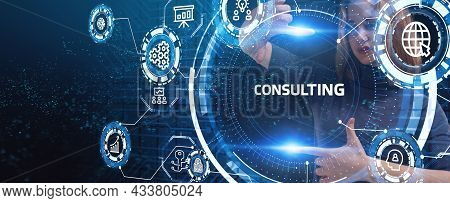 Business, Technology, Internet And Network Concept. Consulting Expert Advice Support Service.