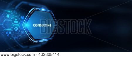 Business, Technology, Internet And Network Concept. Consulting Expert Advice Support Service. 3d Ill