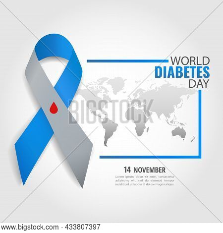 Vector Illustration On The Theme World Diabetes Day.