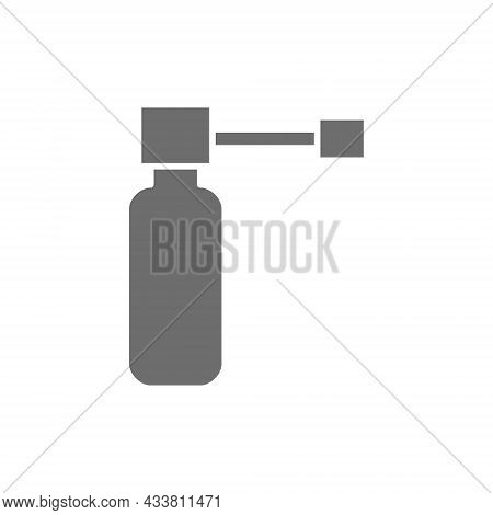 Medicinal Throat Spray Grey Icon. Isolated On White Background