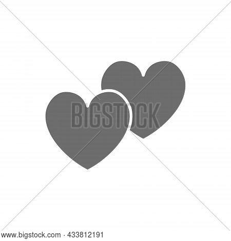 Vector Hearts, Favorite, Positive Feedback Grey Icon.