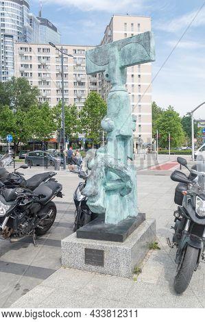 Warsaw, Poland - June 15, 2021: Toreador Sculpture By Juan Soriano. Sculpture Donated By Mark Keller