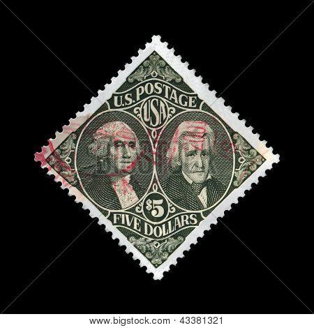 Usa - Circa 1994: Stamp Printed In Usa, Shows Washington And Jackson, Circa 1994.