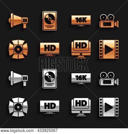 Set Smart Display With Hd Video, Cinema Camera, Play Video, Monitor, Movie Spotlight, Screen Tv 16k,