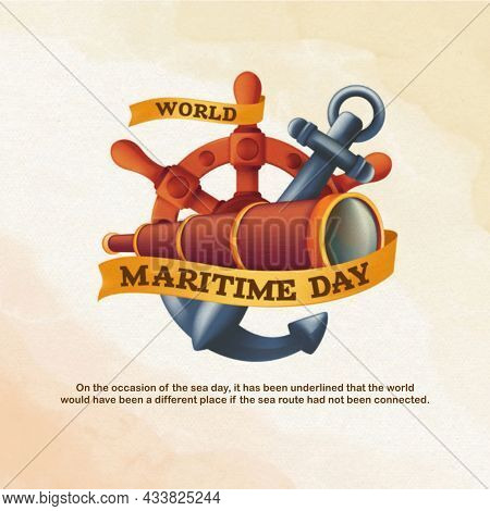 World Maritime Day. Holidays Around The World Of Maritime Day. Illustration