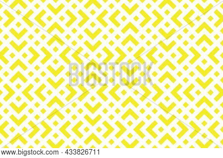Abstract Geometric Pattern. A Seamless Background. White And Yellow Ornament. Graphic Modern Pattern