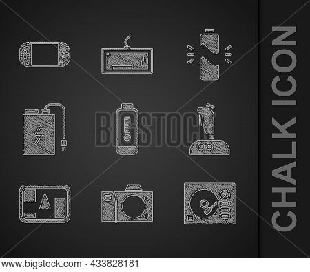 Set Battery Charge Level Indicator, Photo Camera, Vinyl Player, Joystick For Arcade Machine, Gps Dev