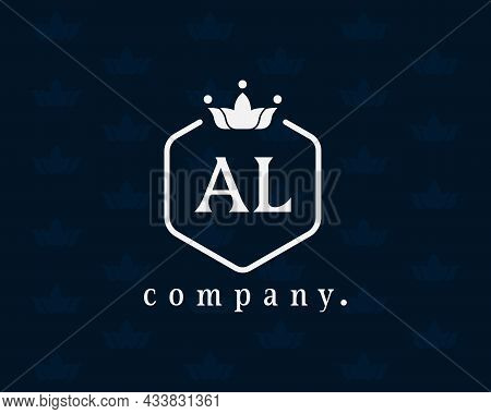 Creative Letter A And L Joint Graceful Logo. Elegant Emblem And Beautiful Calligraphy. The Hexagonal