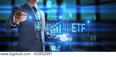 Etf Investment Financial Tool. Stock Market Trading Business Finance Concept