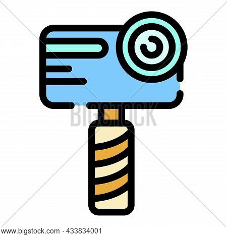 Handheld Camera Icon. Outline Handheld Camera Vector Icon Color Flat Isolated