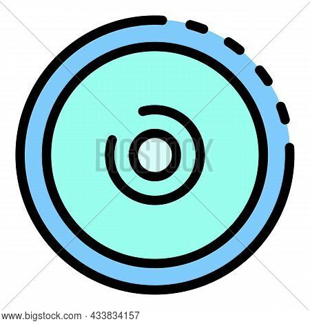 Camera Lens Icon. Outline Camera Lens Vector Icon Color Flat Isolated