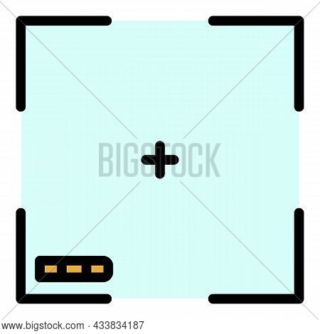 Camera Focusing Screen Icon. Outline Camera Focusing Screen Vector Icon Color Flat Isolated