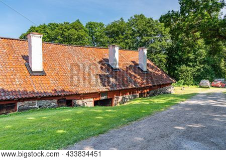 Vira Bruk, Sweden - July 5, 2021: Outdoor Summer View Of The Sixteenth Century Weapons Forge Vira Br