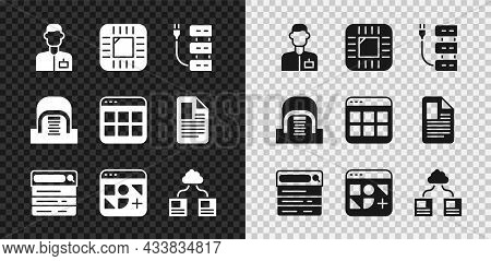 Set Analyst Engineer, Processor With Cpu, Server, Search, Different Files, Cloud Technology Data Tra