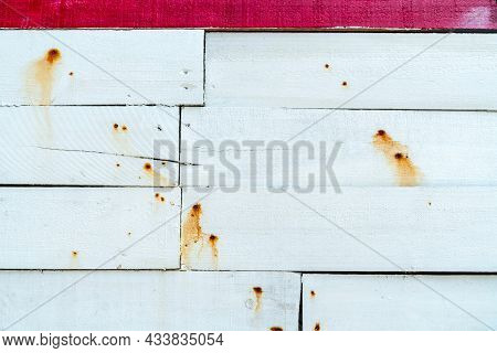 White Wooden Wall Texture Background. Wood Plank Surface Texture Background. Timber Wooden Wall Text