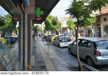 Chania - July 22: Cars At Parking In Street Of Chania, Greece On July 22, 2021. Chania Is A City On