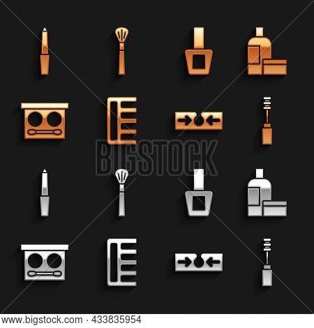 Set Hairbrush, Cream Or Lotion Cosmetic Tube, Mascara, Acne, Eye Shadow Palette, Nail Polish Bottle,