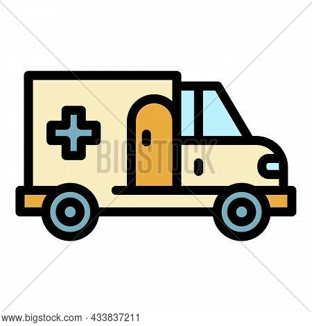 City Ambulance Icon. Outline City Ambulance Vector Icon Color Flat Isolated