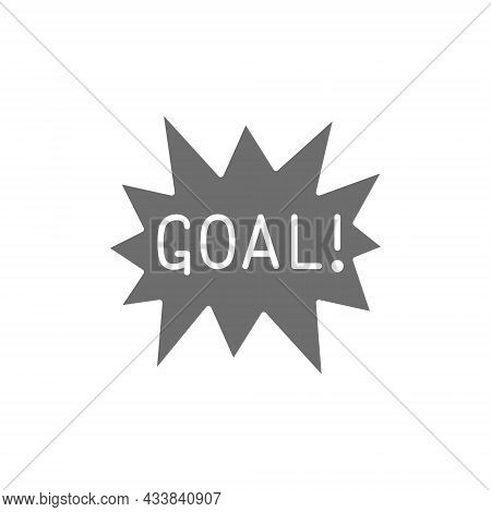Goal Scored, Celebrating Success Grey Icon. Isolated On White Background