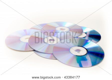 Large Pile Of Fresh Cds And Dvd