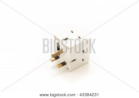 UK Plug Cube that is dangerous and unsafe