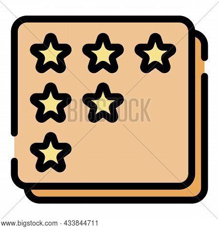 Star Rating Selection Icon. Outline Star Rating Selection Vector Icon Color Flat Isolated